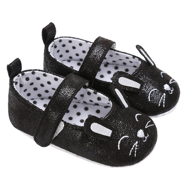Girl Infant Bunny Face Soft Sole Crib Shoes