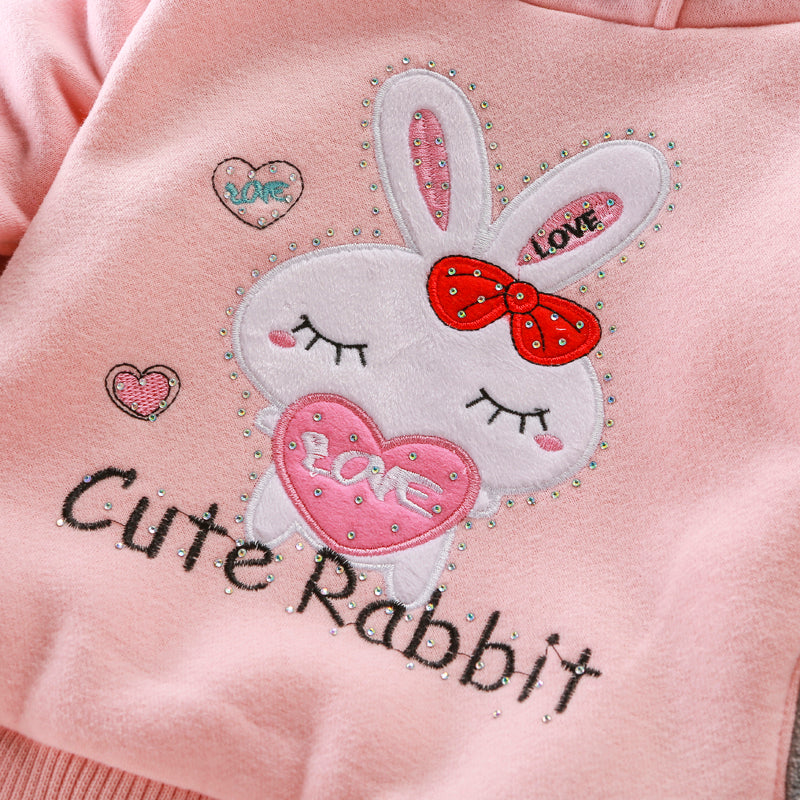 Winter Toddler/Girls Rabbit Hoodie Jacket