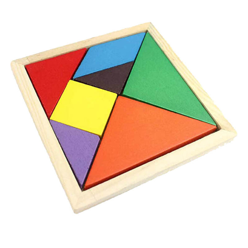 7pc Infant/Toddler Wooden 3D Shape Puzzle