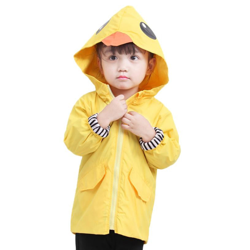 Unisex Baby/toddler Zipper Hooded Jacket