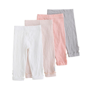 Girls Toddler Ruched Capri Leggings (assorted colors)