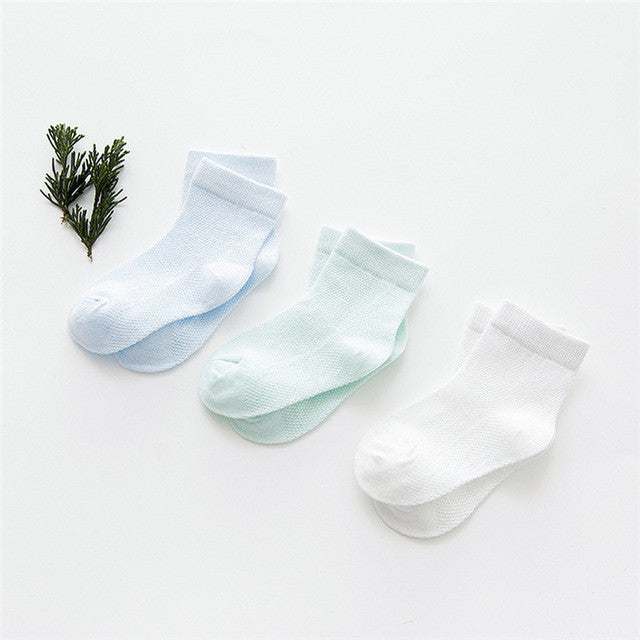 3 Pairs Infant/Toddler Cotton Socks