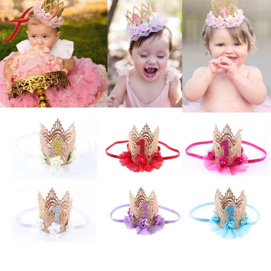 Girls Infant/toddler Elastic Princess Headband (assorted colors)