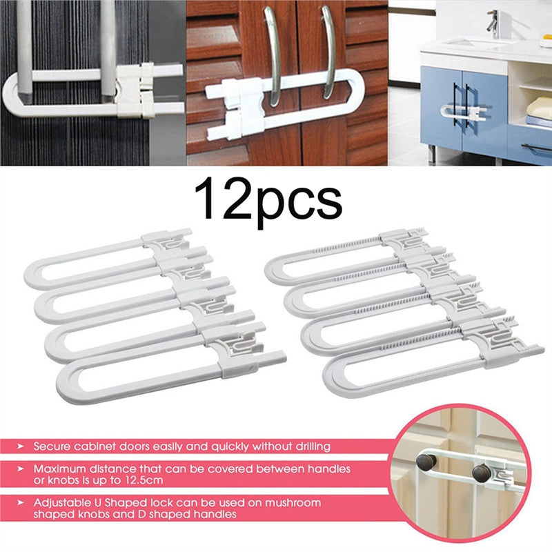 Child Safety Cabinet Latches Pack of 4