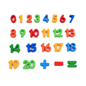 Colorful Wooden Number Puzzle For Toddlers