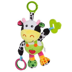 Infant Plush Cow Toy for Stroller Pram Car Seat