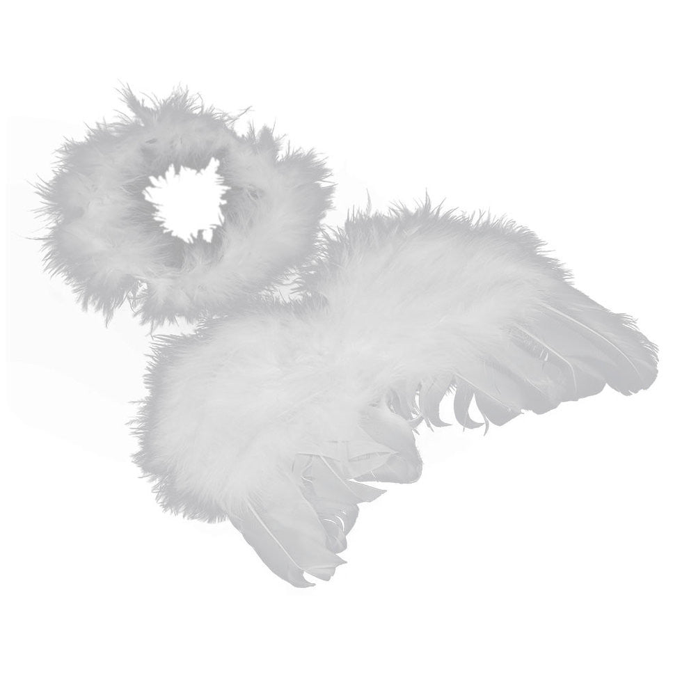 Unisex Infant  Angel Fairy Feather Wing and Halo Costume