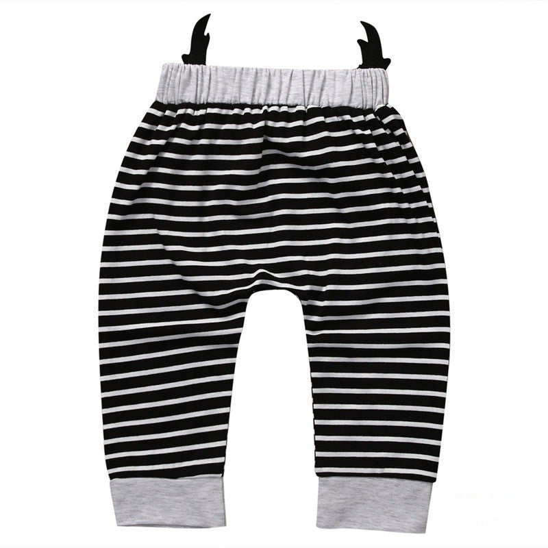 Unisex Infant/Toddler Harem pants with animal face seat