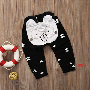 65d1d397d Unisex Infant Toddler Harem pants with animal face seat – Pipers ...