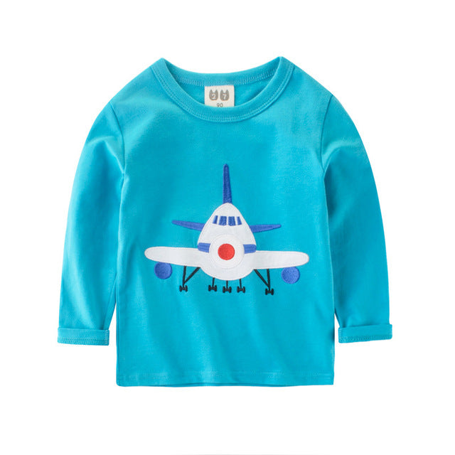 Toddler Boys Long-sleeved Cotton T-shirt (Mult. images)