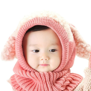 Baby/Toddler Winter Scarf Hat (one piece)