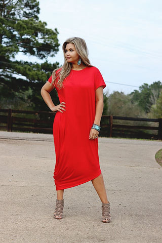 Side Knee Dress (Two colors)