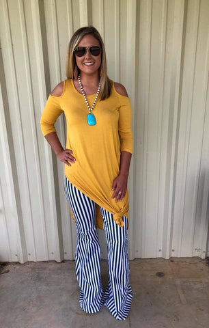 Long Cold Shoulder Tunic