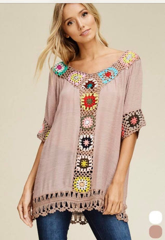 Crochet Multi Pattern Top