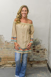 Turquoise Tunic/Dress with Embroidery