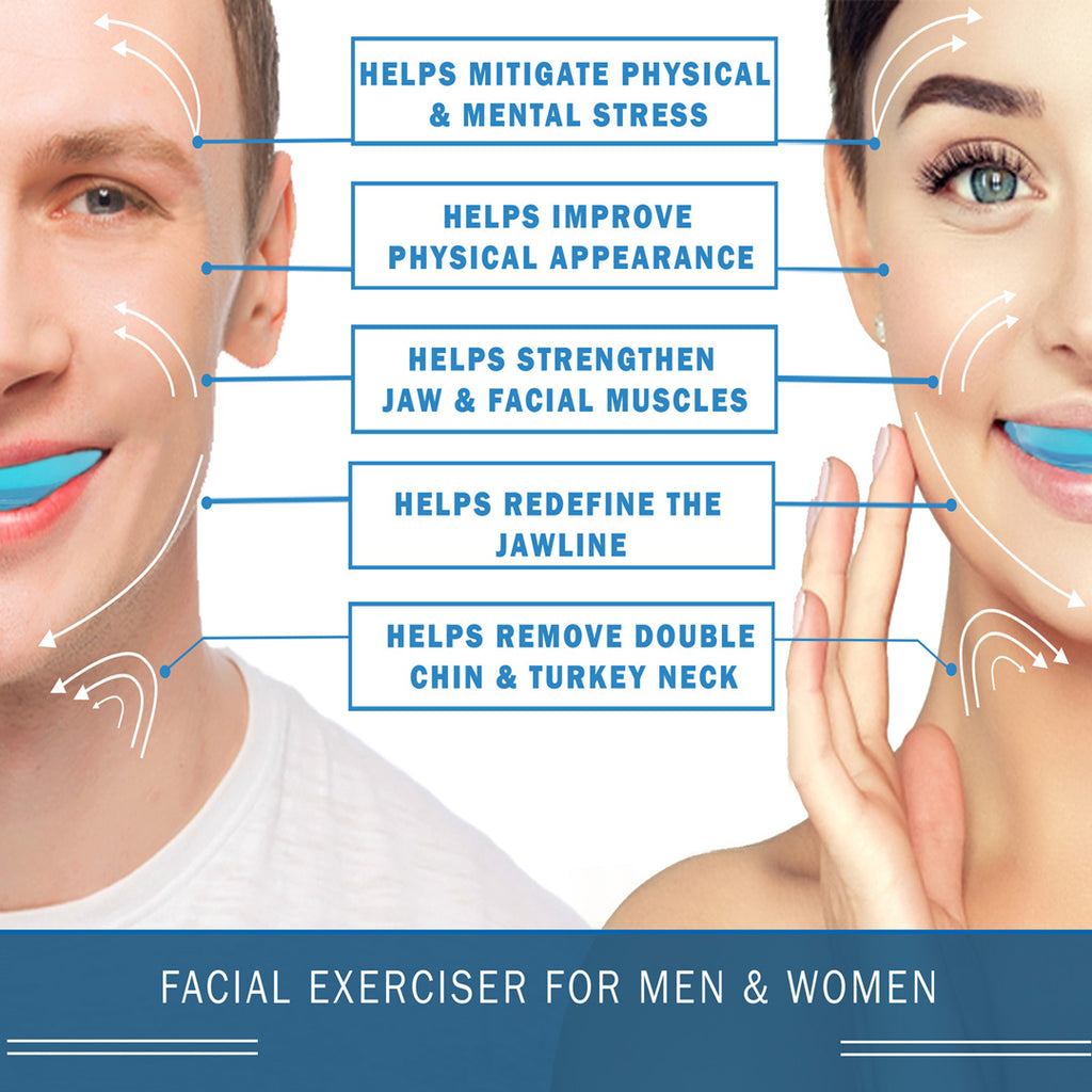 Face muscle exercise device