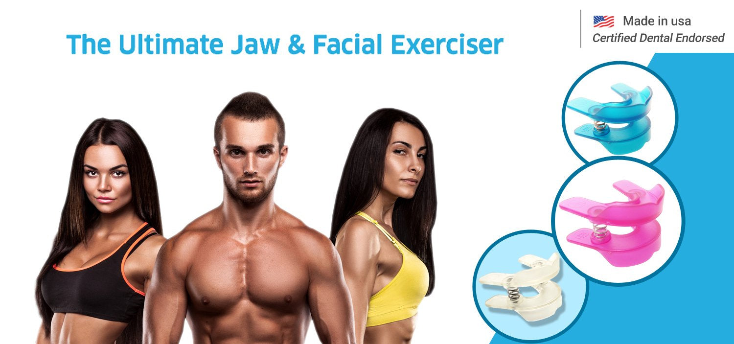 Facial exercise device - blue