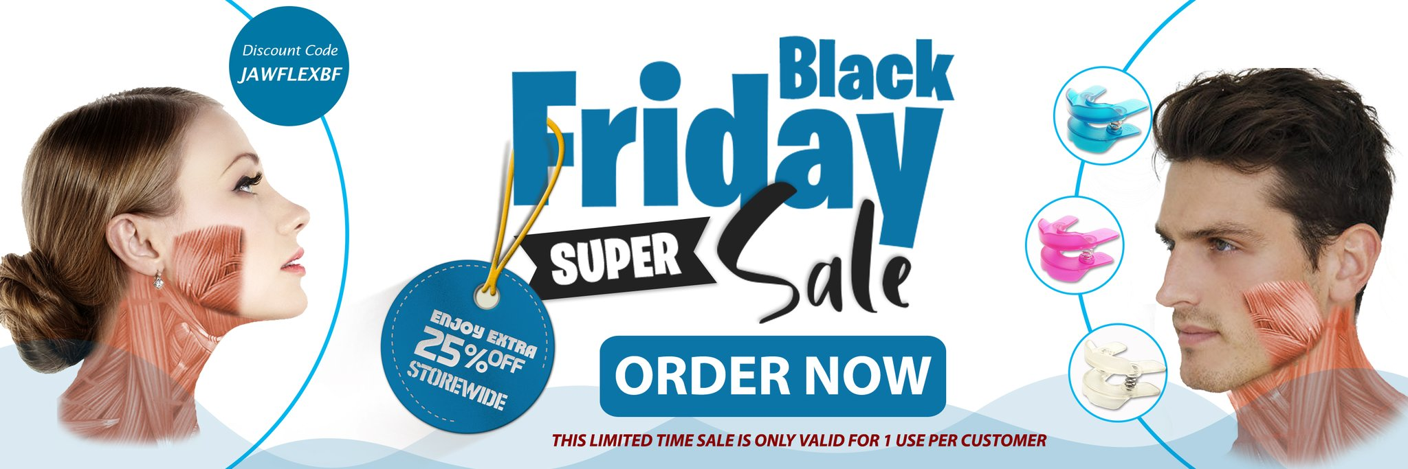 Facial Exercise Device - JawFlex Blue, Pink