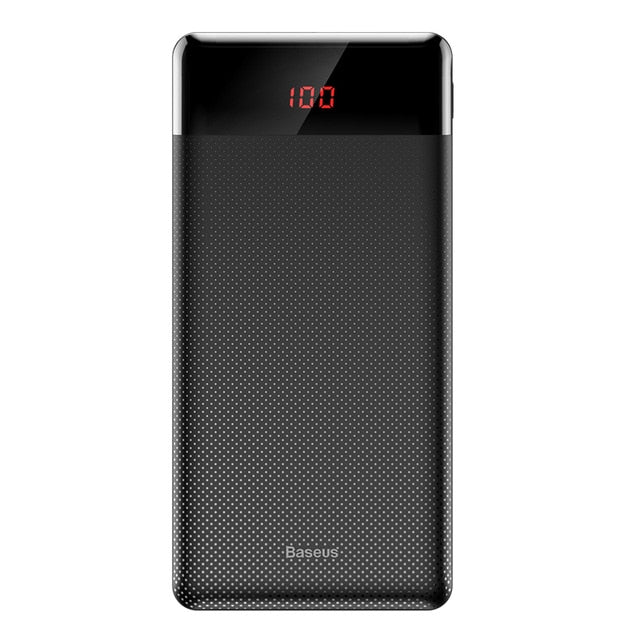 Baseus 10000mAh Power Bank Dual USB LCD angle - gadgets and mobile