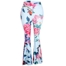 Floral High Waist Bell Bottom