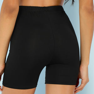 High Waist Basic Bike Short