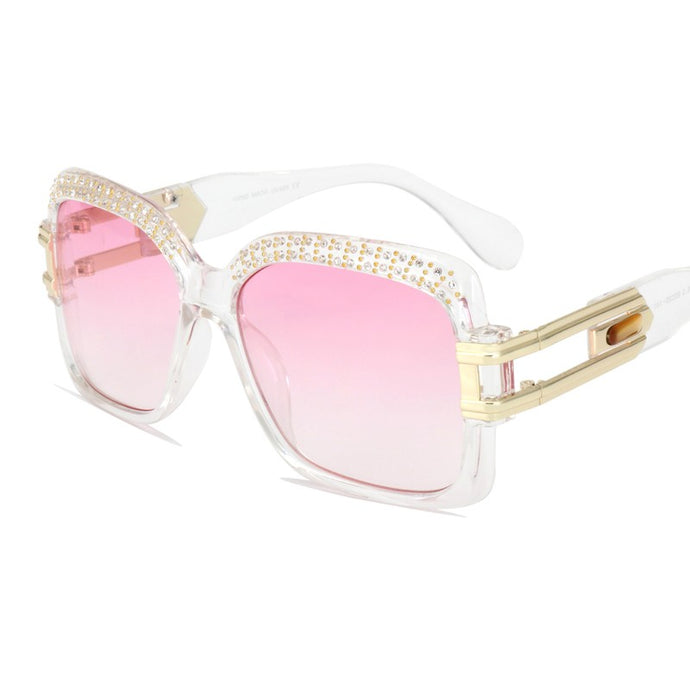 Retro Crystal Square Sunglasses