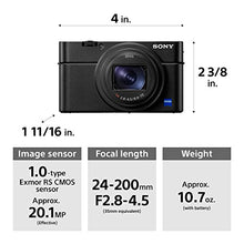 Sony RX100 VI 20.1 MP Premium Compact Digital Camera w/1-inch sensor, 24-200mm ZEISS zoom lens and pop-up OLED EVF (DSCRX100M6/B)
