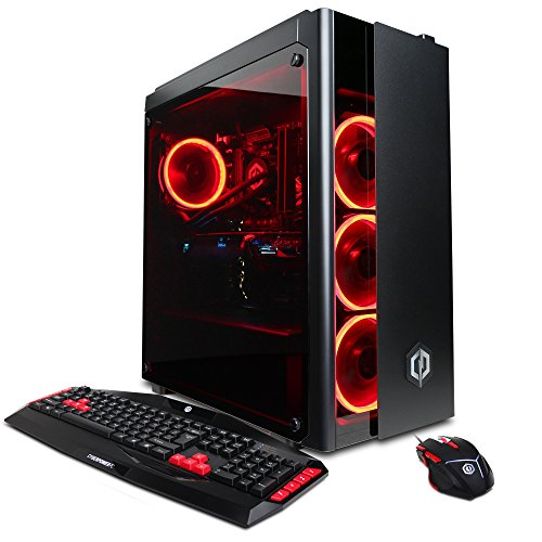 CYBERPOWERPC Gamer Xtreme VR Gaming PC Desktop GXiVR8080A2 w/Liquid Cooled Overclockable Intel i7-8700K 3.7GHz CPU, 16GB DDR4, NVIDIA GTX 1080 Ti 11GB, 240GB SSD, 1TB HDD & Win10 64-Bit