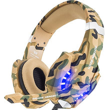 BENGOO Stereo Gaming Headset for PS4, PC, Xbox One Controller, Noise Cancelling Over Ear Headphones with Mic, LED Light, Bass Surround, Soft Memory Earmuffs for Laptop Mac Nintendo Switch –Camouflage