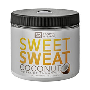 Sweet Sweat Coconut 'XL' Jar 13.5oz | Helps increase circulation, sweating and motivation during exercise | Made with Extra Virgin Organic Coconut Oil and other Natural Oils