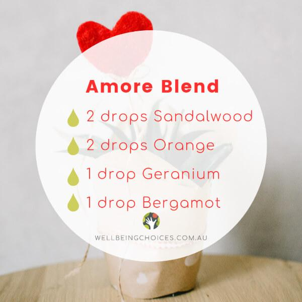 Amore Diffuser Blend from Wellbeing Choices