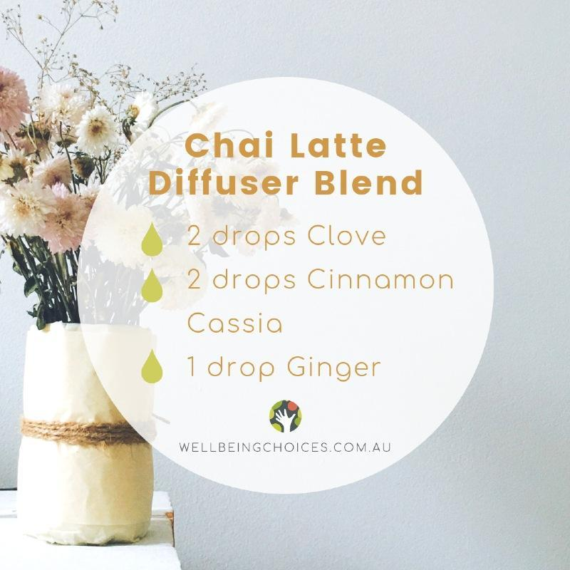 Chai Latte Diffuser blend Wellbeing Choices