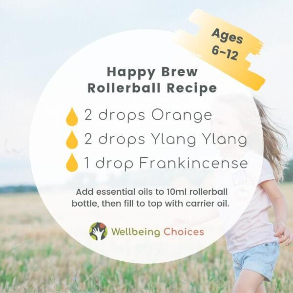 Happy Brew Rollerball Recipe DIY Blend Droplets of Wellbeing