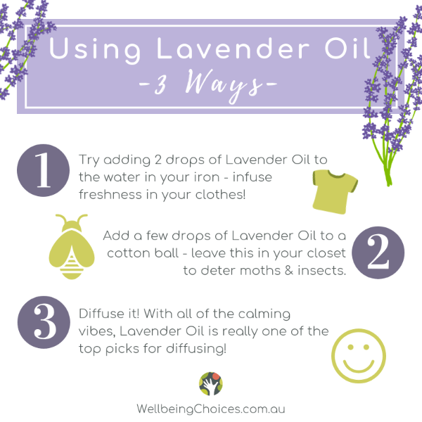 Using Lavender Oil 3 ways