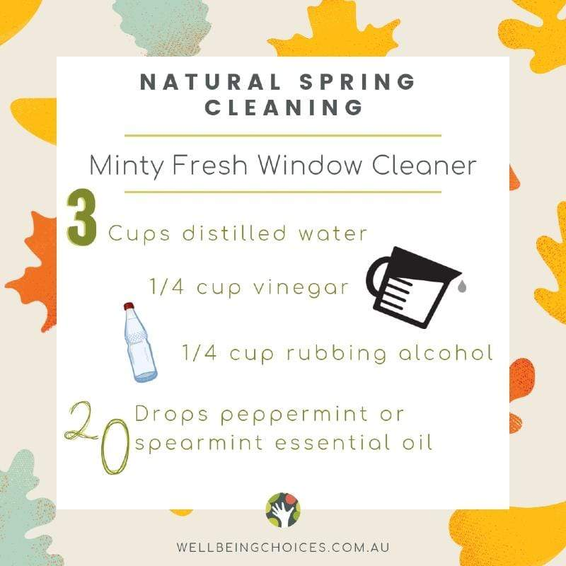Natural Spring Cleaning Minty Fresh Window Cleaner