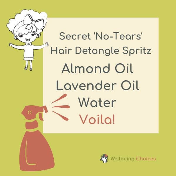 Secret no tears hair detangle spritz