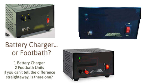 Battery charger or Footbath? Can you spot the difference?