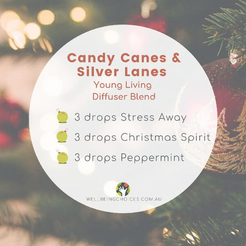 Candy Canes and Silver Lanes Young Living Diffuser Blend DIY Recipe