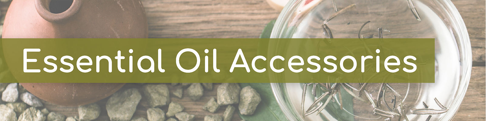 Essential oil accessories collection