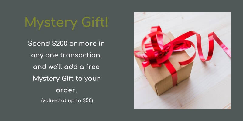 Spend $200 or more in one transaction, get a free gift
