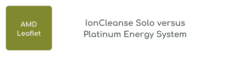 IonCleanse Solo versus Platinum Energy System