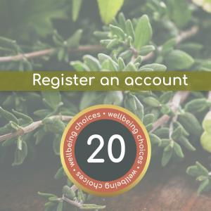 Register and account with wellbeing rewards