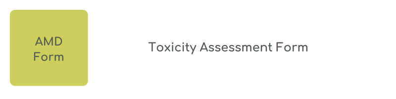 Toxicity Assessment Form