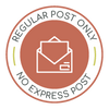 Regular Post only, Express Post not available