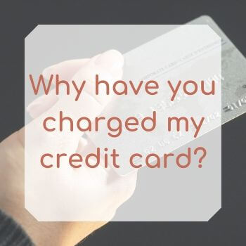 There's a charge on my credit card from Wellbeing Choices Australia