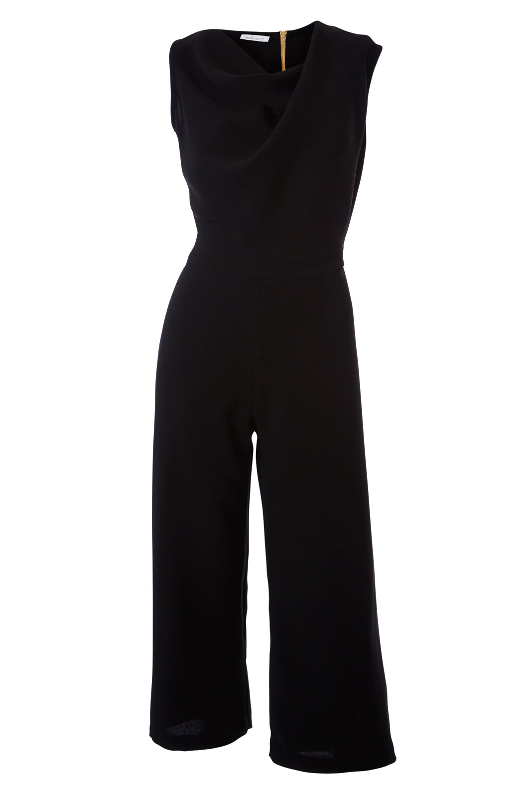 Gorgona black crepe jumpsuit