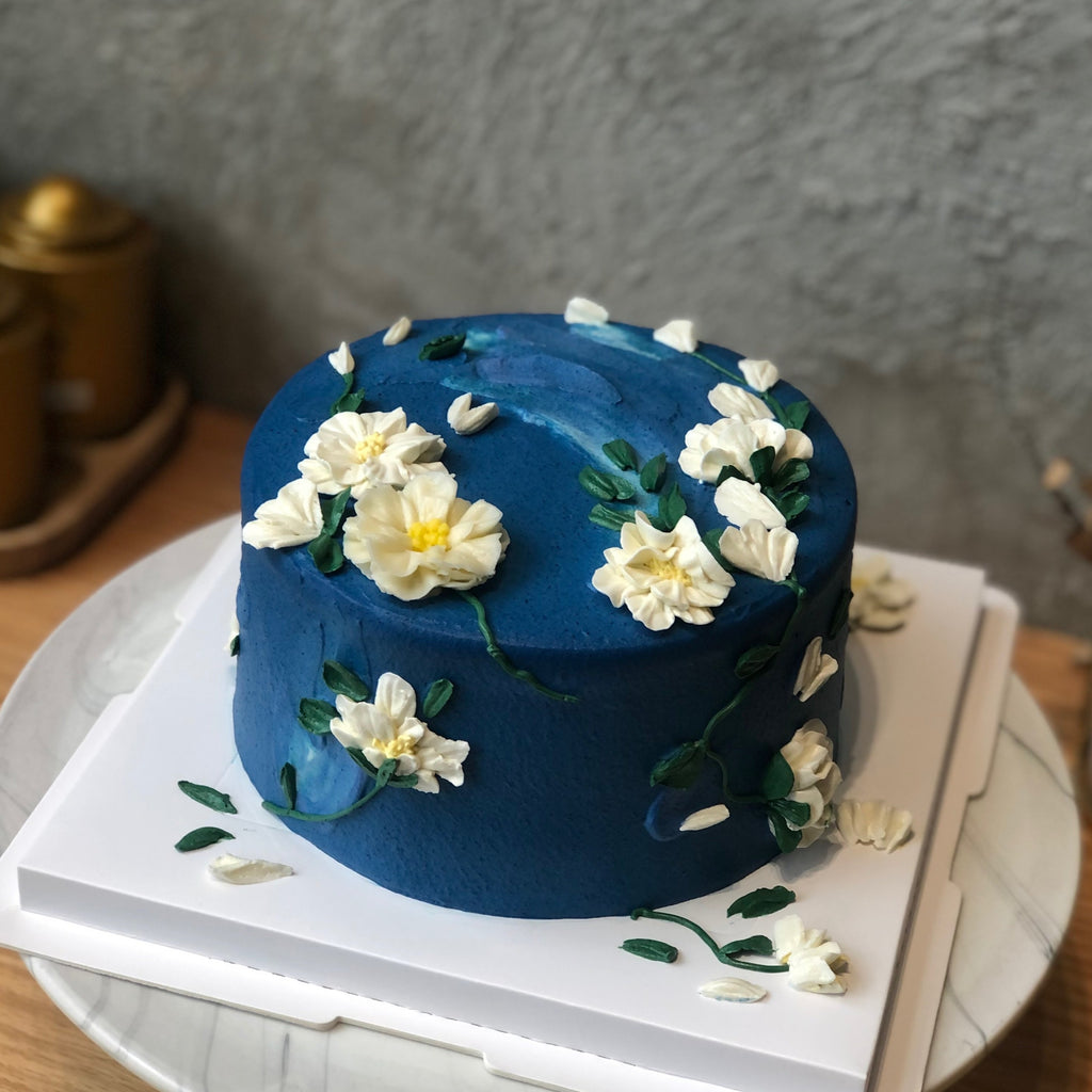 Galaxy Floral Cake