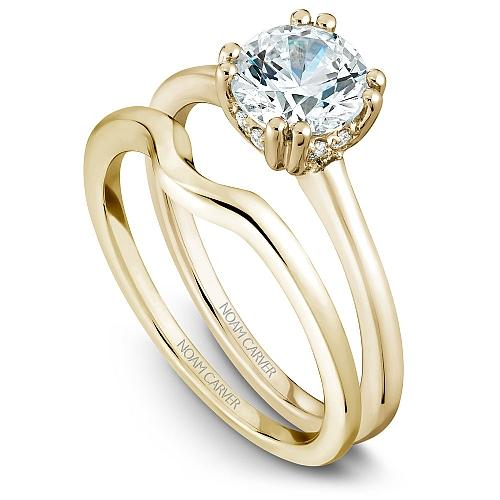 Noam Carver Classic Solitaire Engagement Ring Setting For Women