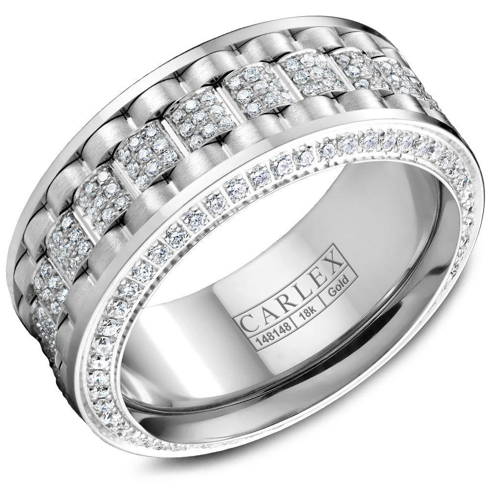 Crowning Luxury Ring In White 9mm with 304 Round Diamonds Carlex Collection