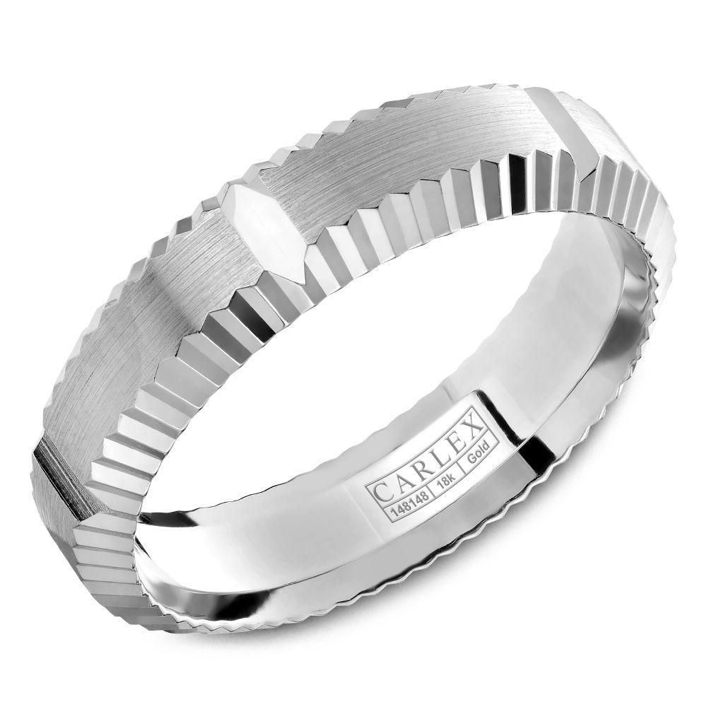 Crowning Luxury Ring In White Gold 6mm Carlex Collection